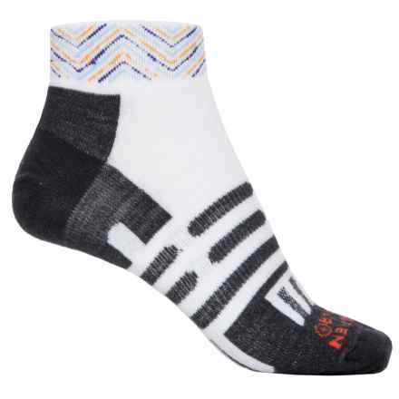 Dahlgren Ultralight Socks - Merino Wool-Alpaca, Below the Ankle (For Men and Women) in White/Multi Zig Zag Stripe - Closeouts