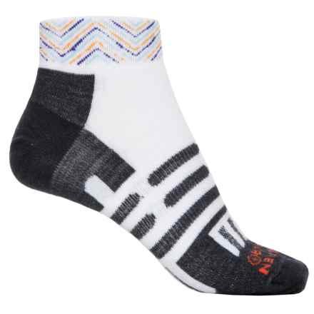 Dahlgren Ultralight Socks - Merino Wool-Alpaca, Below the Ankle (For Men and Women) in White/Multi Zig Zag Stripe - Closeouts