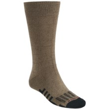 Dahlgren Windowpane Crew Socks (For Men) in Khaki Marl - Closeouts