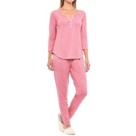 Daisy Fuentes Intimates Shirt and Pants Lounge Set - 2-Piece, 3/4 Sleeve (For Women)