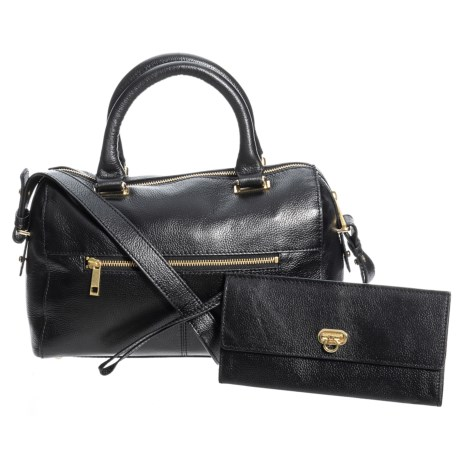 Image of Daisy Leather Top Handle Satchel (For Women)
