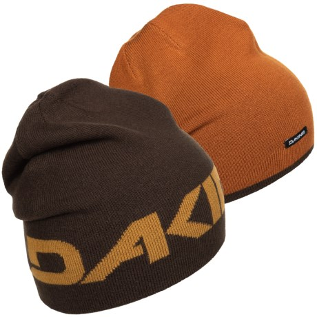 DaKine 2-Way Beanie - Reversible (For Men and Women) in Coffee/Ginger