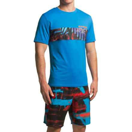 DaKine Bands Rash Guard - UPF 30+, Short Sleeve (For Men) in Blue - Closeouts
