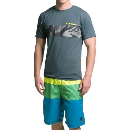 DaKine Bands Rash Guard - UPF 30+, Short Sleeve (For Men) in Charcoal - Closeouts