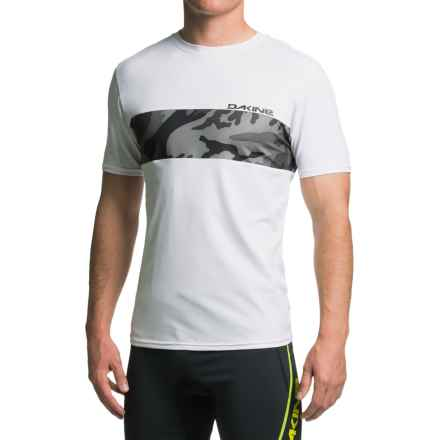 DaKine Bands Rash Guard - UPF 30+, Short Sleeve (For Men) in White - Closeouts