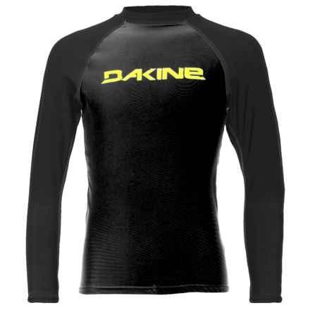 DaKine Baysick Heavy-Duty Rash Guard - UPF 50+, Long Sleeve (For Boys) in Black - Closeouts