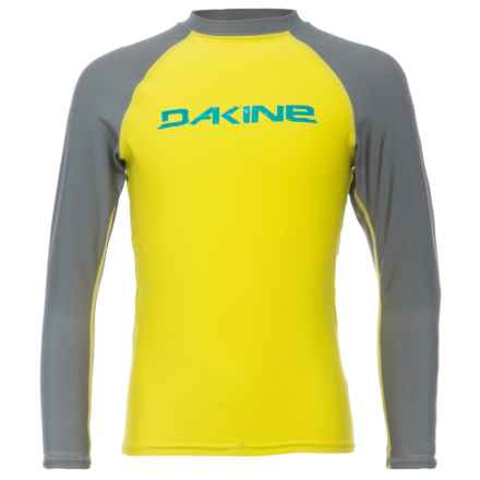 DaKine Baysick Heavy-Duty Rash Guard - UPF 50+, Long Sleeve (For Boys) in Citron - Closeouts