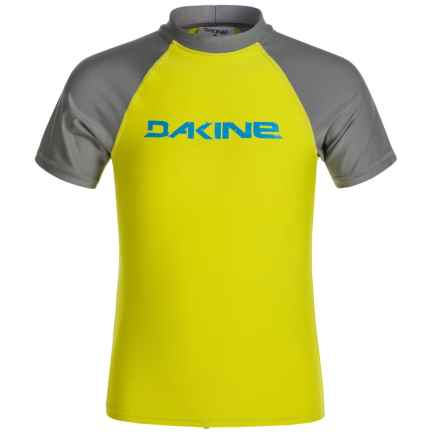 DaKine Baysick Heavy-Duty Rash Guard - UPF 50+, Short Sleeve (For Boys) in Citron - Closeouts