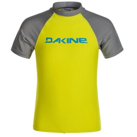 DaKine Baysick Heavy-Duty Rash Guard - UPF 50+, Short Sleeve (For Boys) in Citron