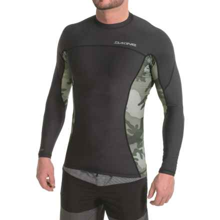 DaKine Bushpig Rash Guard - UPF 50+, Snug Fit, Long Sleeve (For Men) in Black/Camo - Closeouts