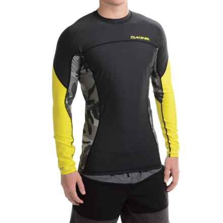 DaKine Bushpig Rash Guard - UPF 50+, Snug Fit, Long Sleeve (For Men) in Citron/Camo - Closeouts