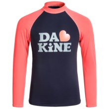 DaKine Classic Rash Guard Shirt - UPF 50, Long Sleeve (For Big Girls) in Navy - Closeouts