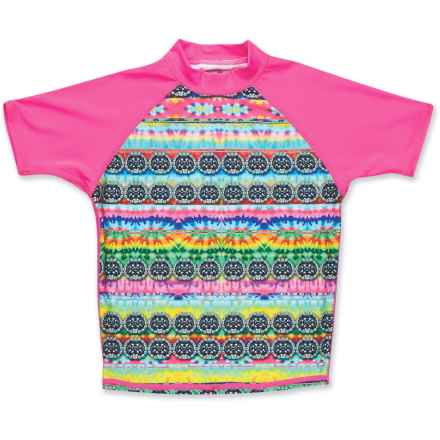 DaKine Classic Rash Guard - Short Sleeve (For Girls) in Cosmic/Gem - Closeouts