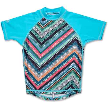 DaKine Classic Rash Guard - Short Sleeve (For Girls) in Native/Isle - Closeouts