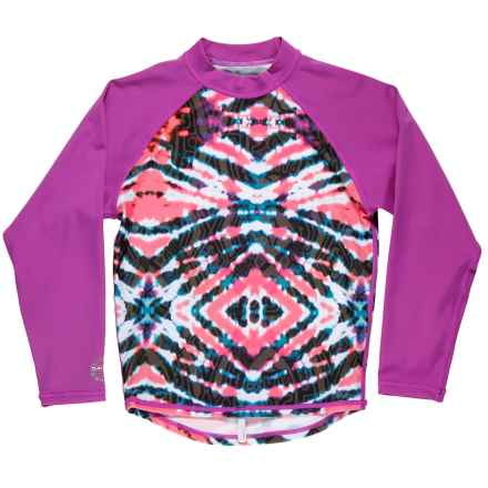 DaKine Classic Rash Guard - UPF 50, Long Sleeve (For Girls) in Watermelon Burst - Closeouts