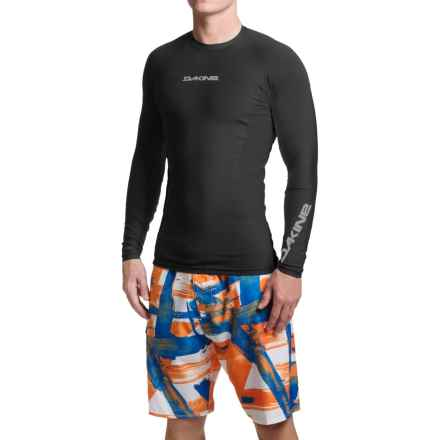 DaKine Covert Rash Guard - UPF 50+, Long Sleeve (For Men) in Black - Closeouts