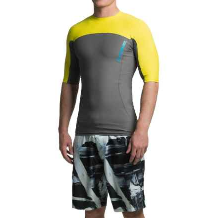 DaKine Covert Rash Guard - UPF 50+, Short Sleeve (For Men) in Charcoal - Closeouts
