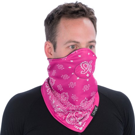 DaKine Desperado Neck Gaiter - Fleece Lining (For Men) in Pink Bandana