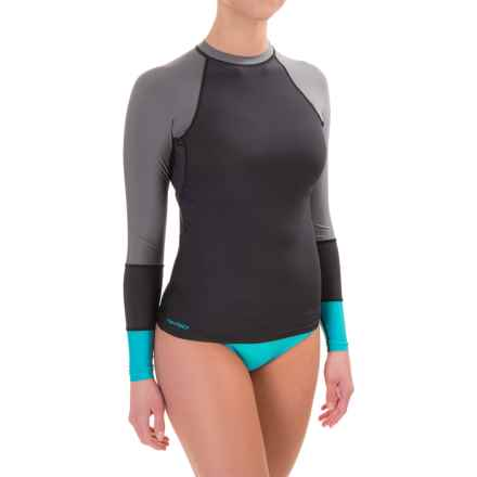 DaKine Flow Rash Guard - UPF 50, Snug Fit, Long Sleeve (For Women) in Black - Closeouts