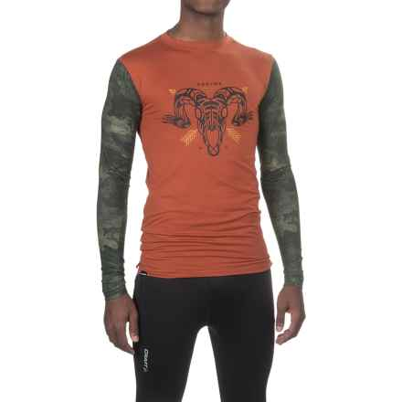 DaKine Grant Base Layer Top - Crew Neck, Long Sleeve (For Men) in Picante/Peat Camo - Closeouts