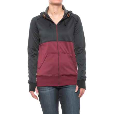 DaKine Hazel Tech Hoodie - Zip Front (For Women) in Black/Rosewood - Closeouts