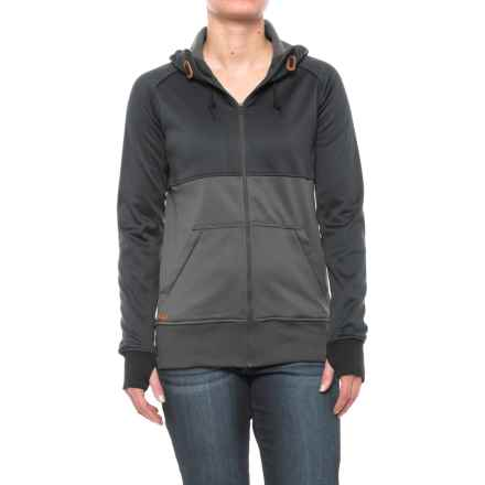 DaKine Hazel Tech Hoodie - Zip Front (For Women) in Black/Shadow - Closeouts
