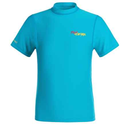 DaKine Heavy-Duty Rash Guard - UPF 50, Loose Fit, Short Sleeve (For Kids) in Neon/Blue - Closeouts