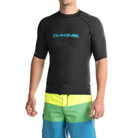 DaKine Heavy-Duty Rash Guard - UPF 50, Snug Fit, Short Sleeve (For Men) in Black - Closeouts