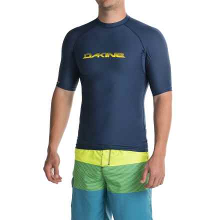 DaKine Heavy-Duty Rash Guard - UPF 50, Snug Fit, Short Sleeve (For Men) in Midnight - Closeouts