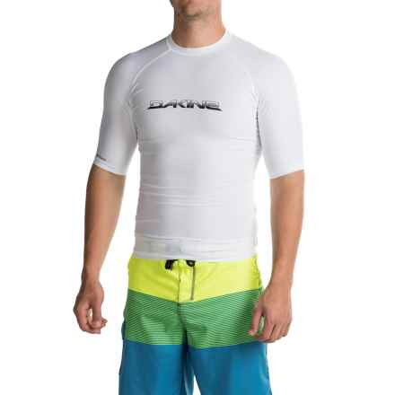 DaKine Heavy-Duty Rash Guard - UPF 50, Snug Fit, Short Sleeve (For Men) in White - Closeouts
