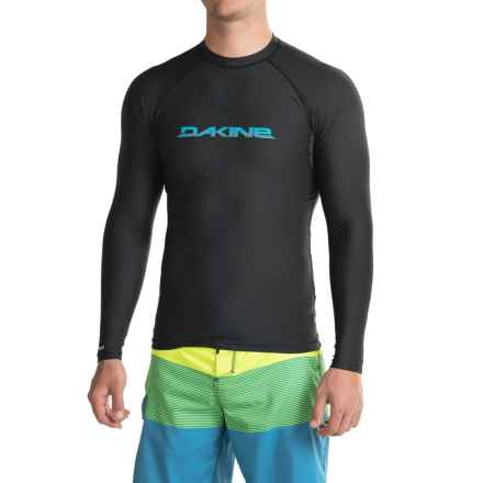 DaKine Heavy-Duty Rash Guard with Faded Logo - UPF 50, Snug Fit Long Sleeve (For Men) in Black - Closeouts