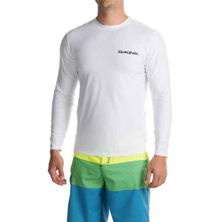 DaKine Heavy-Duty Surf Shirt with Chest Logo - UPF 50, Loose Fit, Long Sleeve (For Men) in White - Closeouts