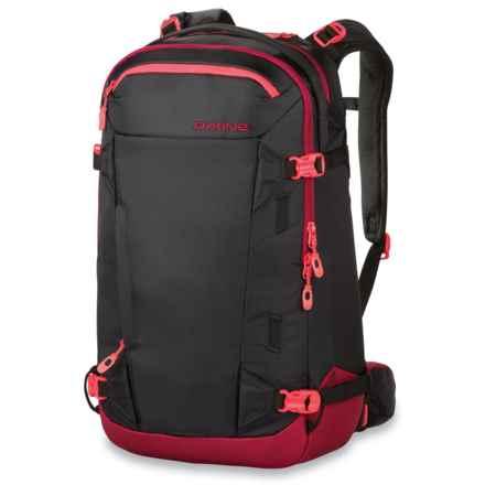 DaKine Heli Pro II Ski Backpack - 28L in Black/Phoenix/Burgundy - Closeouts