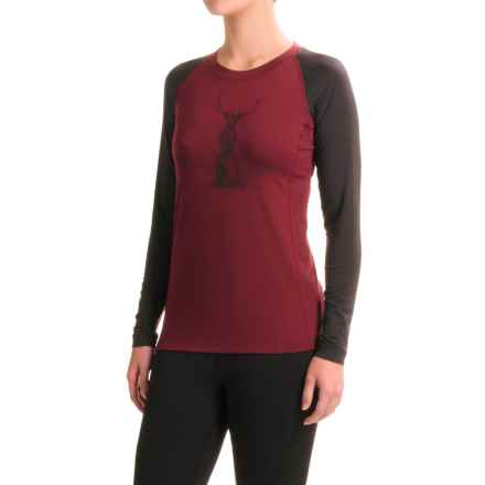 DaKine Hillcrest Shirt - Long Sleeve (For Women) in Rosewood/Black - Closeouts