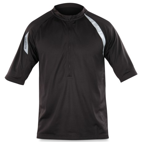 DaKine Momentum Cycling Jersey - Zip Neck, Short Sleeve (For Men) in Black