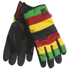 DaKine Omega Gloves - Waterproof (For Men) in Rasta - Closeouts