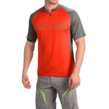 DaKine Range Mountain Bike Jersey - Zip Neck, Short Sleeve (For Men) in Blaze - Closeouts