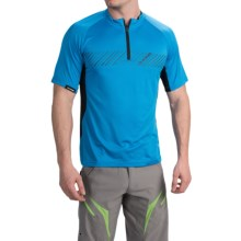 DaKine Range Mountain Bike Jersey - Zip Neck, Short Sleeve (For Men) in Blue - Closeouts