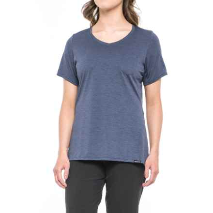 DaKine Roslyn Cycling Jersey - V-Neck, Short Sleeve (For Women) in Crown Blue Tracks - Closeouts