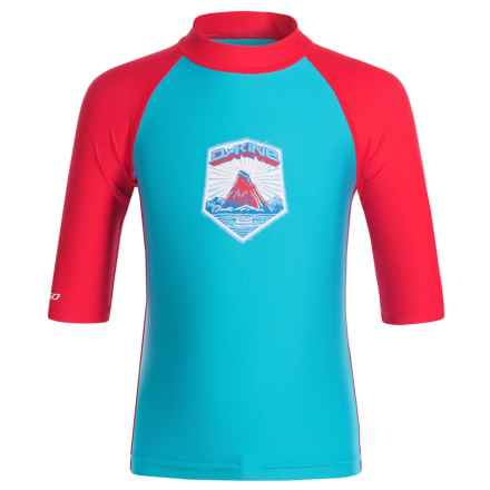 DaKine Snug Rash Guard - UPF 50+, 3/4 Sleeve (For Toddlers) in Neon Blue - Closeouts