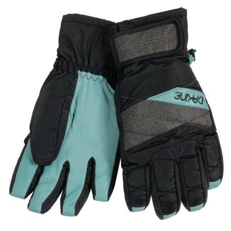 DaKine Tahoe Short Gloves - Waterproof, Insulated (For Women) in Denim