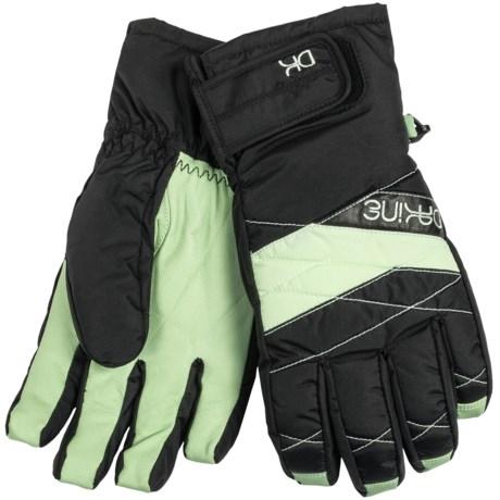 DaKine Tahoe Short Gloves - Waterproof, Insulated (For Women) in Patina