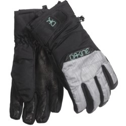 DaKine Tahoe Short Gloves - Waterproof, Insulated (For Women) in Denim
