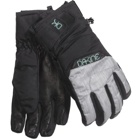 DaKine Tahoe Short Gloves - Waterproof, Insulated (For Women) in Silver