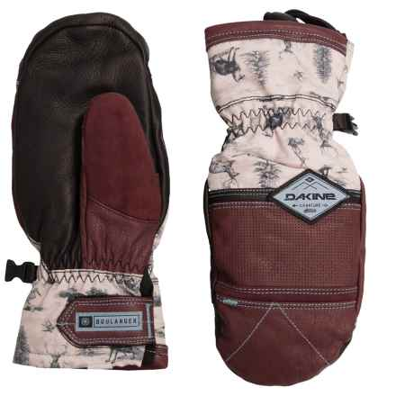 DaKine Team Fleetwood Leather Mittens - Waterproof, Insulated (For Women) in Annie Boulanger - Closeouts