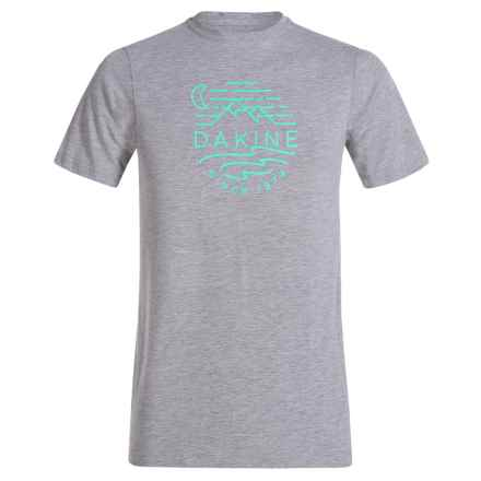 DaKine Tech T-Shirt - Short Sleeve (For Kids) in Heather/Grey/Sky - Closeouts