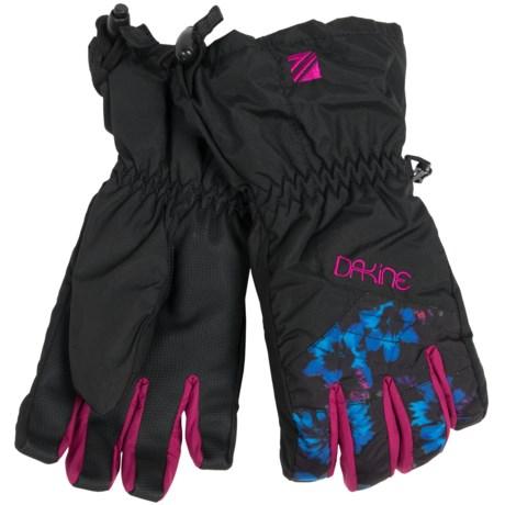 DaKine Tracker Jr. Gloves - Waterproof, Insulated (For Kids) in Blue Flowers