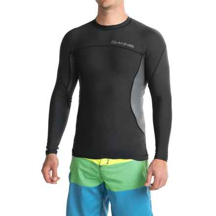 DaKine Wrath Rash Guard - UPF 50, Snug Fit, Long Sleeve (For Men) in Black - Closeouts