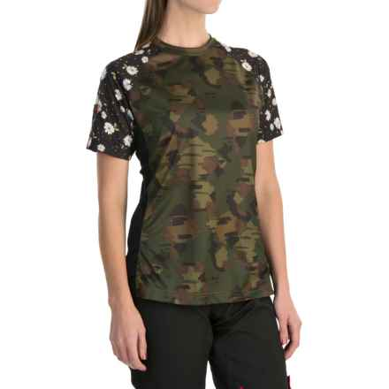DaKine Xena Cycling Jersey - Short Sleeve (For Women) in Camo - Closeouts