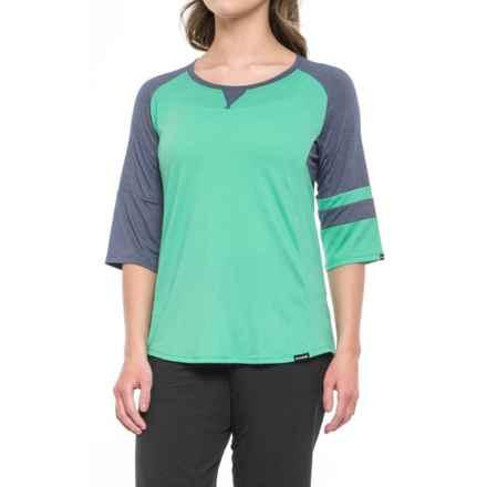 DaKine Xena Jersey - 3/4 Sleeve (For Women) in Aqua Green/Crown Blue - Closeouts